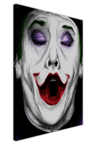 The Joker Face on Framed Canvas Wall Art Prints Movie Pictures TV photos Home Decoration Room Deco Posters-3D