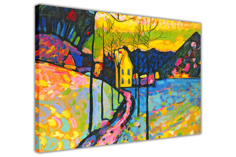 Winter Landscape By Wassily Kandinsky Canvas Wall Print Famous Artwork For Livingroom Bedroom Office Art Pictures Framed