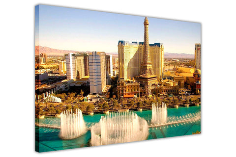 Las Vegas At Day Canvas Prints Wall Art Pictures Framed Modern Art Home Deco-3D