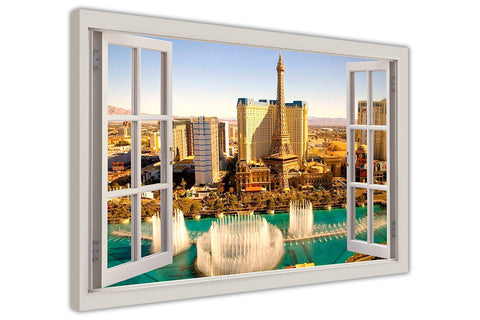 Las Vegas during Day 3d Window Bay View on framed canvas prints wall art pictures posters home decoration artowork-3D