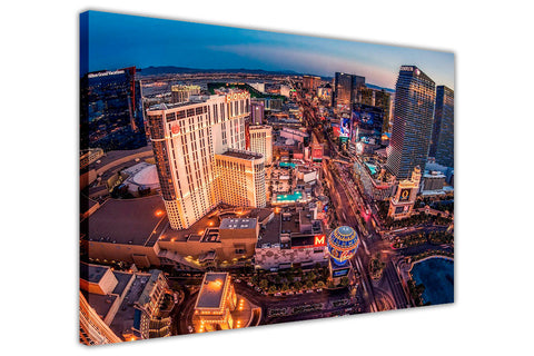Iconic Las Vegas Strip View Framed Canvas Prints Wall Art Pictures Home Deco-3D