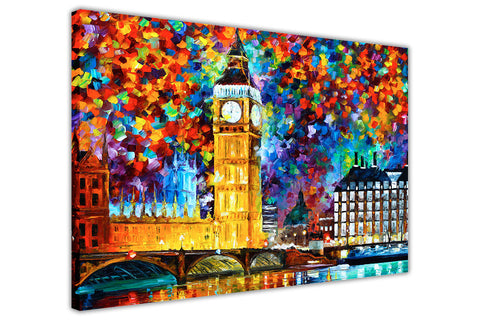 London 2012 Olympics Oil Painting By Leonid Afremov Re-printed on Framed Canvas Wall Art Prints Home Decoration Pictures Room Deco Photo-3D