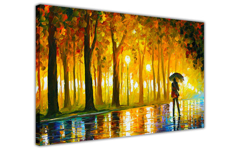 Bewitched Park By Leonid Afremov Canvas print Wall Art Pictures for Living Room Bedroom Office Home Decoration Oil Painting Re-print-3D