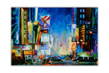 Broadway New York By Leonid Afremov Oil Painting Re-printed on Framed Canvas Wall Art Prints Home Decoration Pictures Room Deco Photo-Front