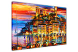 Cannes, France By Leonid Afremov Oil Painting Re-printed on Framed Canvas Wall Art Prints Home Decoration Pictures Room Deco Photo-3D