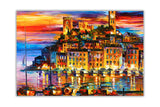 Cannes, France By Leonid Afremov Oil Painting Re-printed on Framed Canvas Wall Art Prints Home Decoration Pictures Room Deco Photo-Front