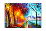 City By The Lake By Leonid Afremov Canvas print Wall Art Pictures for Living Room Bedroom Office Home Decoration Oil Painting Re-print-Front