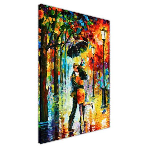 Dance Under The Rain By Leonid Afremov Oil Painting Re-printed on Framed Canvas Wall Art Prints Home Decoration Pictures Room Deco Photo-3D