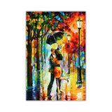 Dance Under The Rain By Leonid Afremov Oil Painting Re-printed on Framed Canvas Wall Art Prints Home Decoration Pictures Room Deco Photo-Front