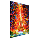 Paris Eiffel Tower By Leonid Afremov Oil Painting Re-printed on Framed Canvas Wall Art Prints Home Decoration Pictures Room Deco Photo-3D