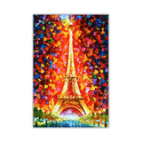 Paris Eiffel Tower By Leonid Afremov Oil Painting Re-printed on Framed Canvas Wall Art Prints Home Decoration Pictures Room Deco Photo-Front