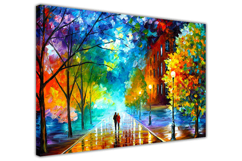 Freshness Of The Cold By Leonid Afremov Canvas print Wall Art Pictures for Living Room Bedroom Office Home Decoration Oil Painting Re-print-3D