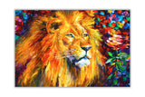 Wild African Lion By Leonid Afremov Oil Painting Re-printed on Framed Canvas Wall Art Prints Home Decoration Pictures Room Deco Photo-Front