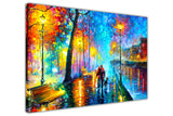 Melody Of The Night By Leonid Afremov Canvas print Wall Art Pictures for Living Room Bedroom Office Home Decoration Oil Painting Re-print-3D