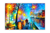 Melody Of The Night By Leonid Afremov Canvas print Wall Art Pictures for Living Room Bedroom Office Home Decoration Oil Painting Re-print-Front