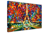 Paris Of My Dreams By Leonid Afremov Oil Painting Re-printed on Framed Canvas Wall Art Prints Home Decoration Pictures Room Deco Photo-3D