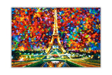 Paris Of My Dreams By Leonid Afremov Oil Painting Re-printed on Framed Canvas Wall Art Prints Home Decoration Pictures Room Deco Photo-Front