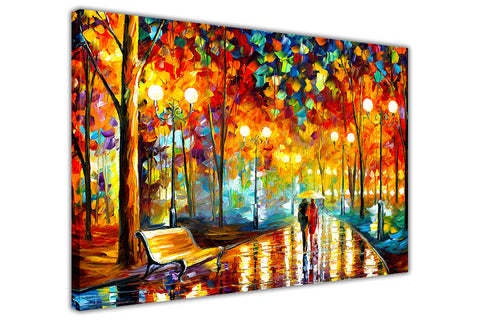 Rains Rustle By Leonid Afremov Canvas print Wall Art Pictures for Living Room Bedroom Office Home Decoration Oil Painting Re-print-3D