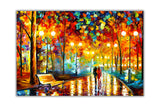 Rains Rustle By Leonid Afremov Canvas print Wall Art Pictures for Living Room Bedroom Office Home Decoration Oil Painting Re-print-Front