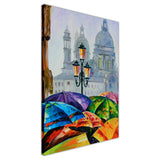 Rainy day in Venice, Spain By Leonid Afremov Oil Painting Re-printed on Framed Canvas Wall Art Prints Home Decoration Pictures Room Deco Photo-3D