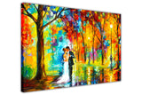 Rainy Wedding By Leonid Afremov Canvas print Wall Art Pictures for Living Room Bedroom Office Home Decoration Oil Painting Re-print-3D