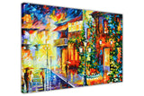 Town from the dream in Germany By Leonid Afremov Oil Painting Re-printed on Framed Canvas Wall Art Prints Home Decoration Pictures Room Deco Photo-3D
