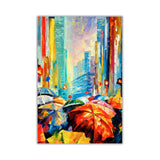 Umbrellas By Leonid Afremov Oil Painting Re-printed on Framed Canvas Wall Art Prints Home Decoration Pictures Room Deco Photo-Front