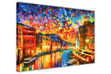 Grand Canal, Venice Italy By Leonid Afremov Oil Painting Re-printed on Framed Canvas Wall Art Prints Home Decoration Pictures Room Deco Photo-3D