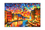 Grand Canal, Venice Italy By Leonid Afremov Oil Painting Re-printed on Framed Canvas Wall Art Prints Home Decoration Pictures Room Deco Photo-Front