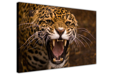 Wild Leopard on Framed Canvas Wall Art Prints Room Deco Poster Photo Landscape Pictures Home Decoration Artwork-3D