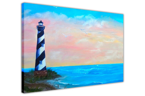 Light House on Framed Canvas Wall Art Prints Floral Pictures Home Decoration Room Deco Poster Photo Artwork-3D