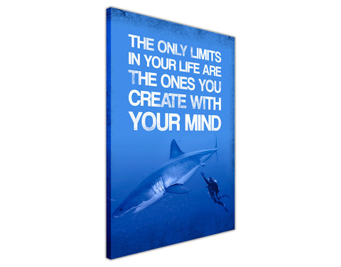 Limits in your Life Quote on Framed Canvas Wall Art Prints Room Deco Poster Photo Landscape Pictures Home Decoration Artwork-3D