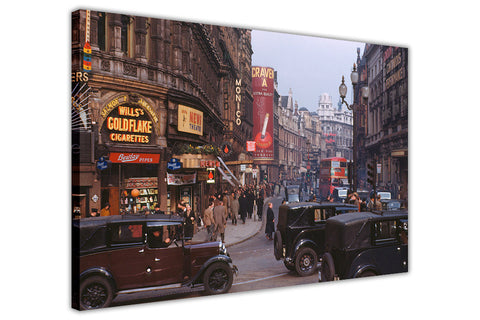 Vinatge 1950s photo of Central London on Framed Canvas Wall Art Prints Pictures City Images Landmarks-3D