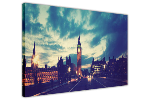 London prints Big Ben Elizabeth Tower canvas wall art prints office framed city pictures-3D