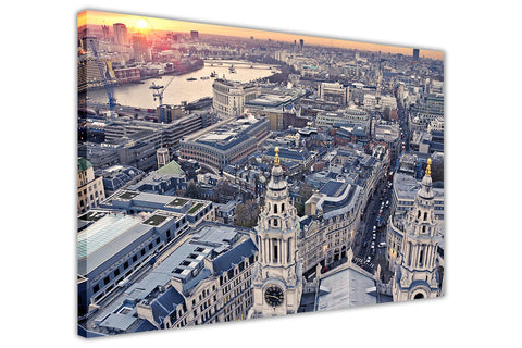 London Cathedral Aerial View Frame Pictures Canvas Prints Wall Art Home Decoration-3D
