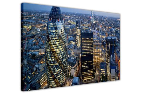 London Cityscape Sky View Canvas Prints Wall Art Pictures Home Deco Framed Photos Modern Art-3D