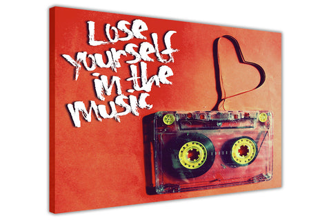Lose Yourself quote Tape on Framed Canvas Wall Art Pictures Music Prints photos Home Decoration Room Deco Posters-3D