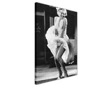 Black and White Marilyne Monroe Photo shoot over Subway on Framed Canvas Wall Art Prints Pictures Celebrity Images Famous People-3D