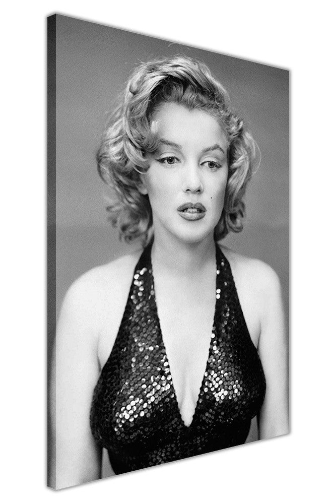 Black and white marilyn monroe in evening dress on canvas wall art prints framed pictures home