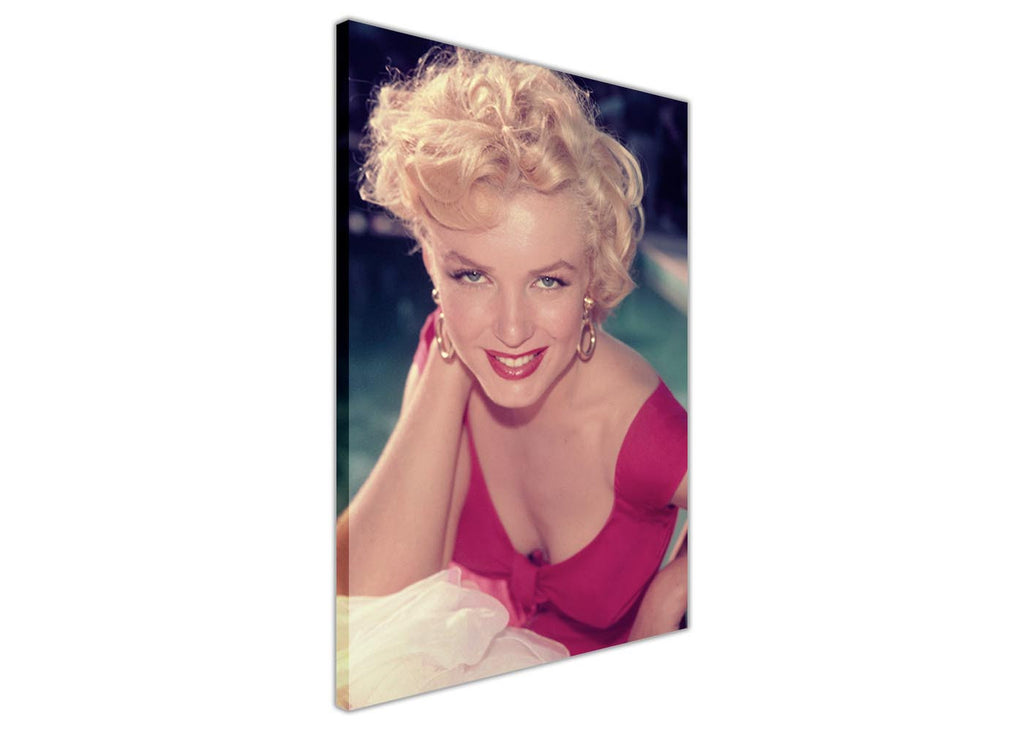 Marilyn Monroe In Pink Dress Framed Canvas Wall Art Prints Home Deco ...