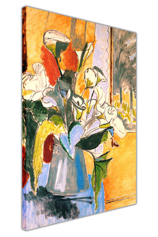 Bouquet Of Flowers by Henri Matisse Canvas Wall Print Famous Artwork For Livingroom Bedroom Office Art Pictures Framed
