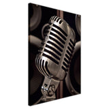 Microphone and speackers on Framed Canvas Wall Art Pictures Music Prints photos Home Decoration Room Deco Posters-3D