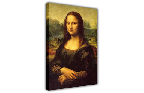 The Mona Lisa by Leonardo da Vinci Oil Painting Re-printed on Framed Canvas Wall Art Prints Home Decoration Pictures Room Deco Photo-3D