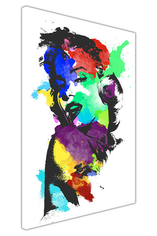 Iconic Marilyn Monroe Colour Splash on Framed Canvas Wall Art Prints Pictures Celebrity Images Famous People-3D