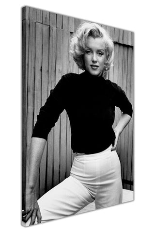 Black and White Marilyn Monroe Shoot on Framed Canvas Wall Art Prints Pictures Celebrity Images Famous People-3D