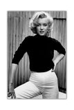 Black and White Marilyn Monroe Shoot on Framed Canvas Wall Art Prints Pictures Celebrity Images Famous People-FRONT