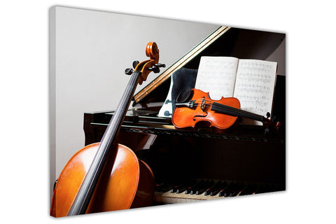 Musical Instruments on Framed Canvas Wall Art Pictures Music Prints photos Home Decoration Room Deco Posters-3D