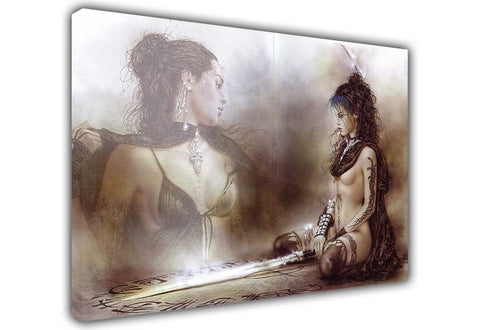 Nude Warrior Princess on Framed Canvas Wall Art Prints Floral Pictures Home Decoration Room Deco Poster Photo Artwork-3D