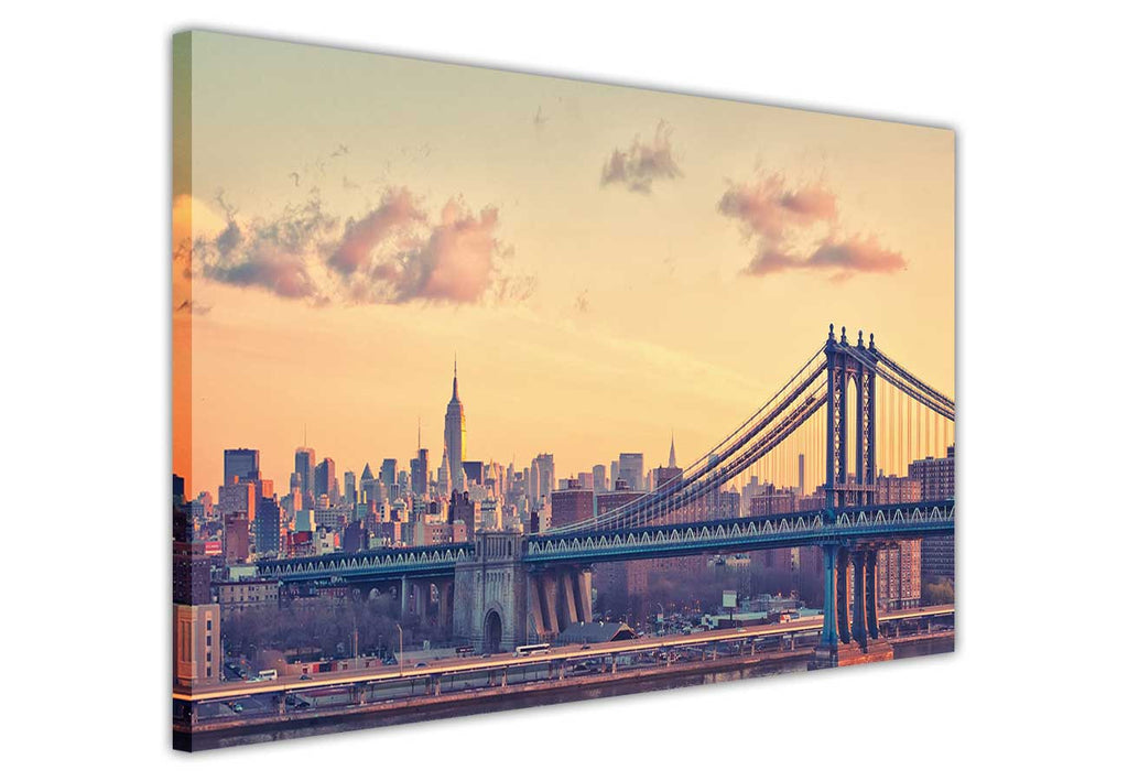 Iconic New York Skyscrapers Wall Poster Prints Art Decoration City Pictures