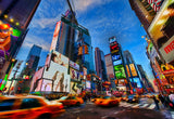 New Large Canvas Prints Wall Art City View New York Times Square Speeding Vehicles Oil Painting Reprint Landscape Cityscape - Photo Print Picture Great Decoration For The Home-Front